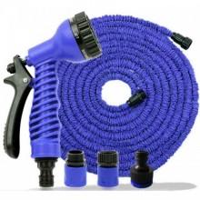 Tuyau d'arrosage extensible rétractable 60 mètres Bleu